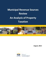 An Analysis of Property Taxation - Ministry of Community, Sport and ...
