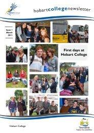 Hobart College Newsletter 1 2011 - Tasmanian Academy