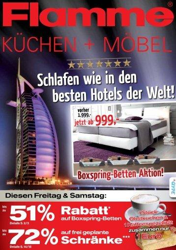 Schlafen wie in den besten Hotels der Welt! - Flamme Möbel Fürth