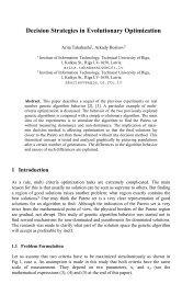 Decision Strategies in Evolutionary Optimization - Aleph Files