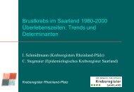 Brustkrebs im Saarland 1980-2000 Überlebenszeiten
