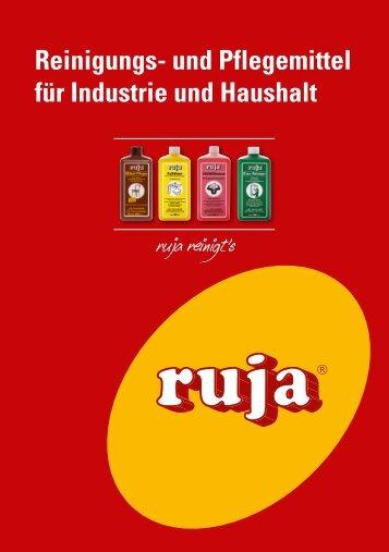 Reinigungs- und Pflegemittel für Industrie und Haushalt - ruja