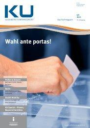 Wahl ante portas! - KU Gesundheitsmanagement