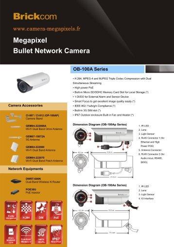 Megapixel Bullet Network Camera OB-100A Series