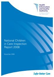 National Children in Care Inspection Report 2008 - hiqa.ie