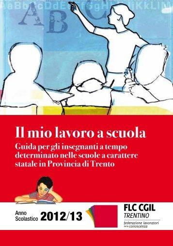 Il mio lavoro a scuola - CGIL del Trentino
