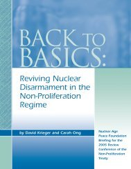 briefing booklet - Nuclear Age Peace Foundation