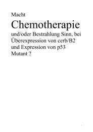 Macht Chemotherapie und/oder Bestrahlung ... - Dr. Kübler GmbH