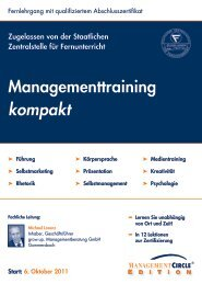 Managementtraining kompakt - Management Circle AG