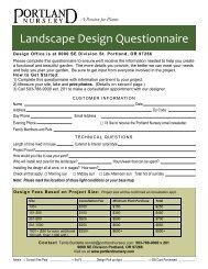 Client Questionnaire Kick Off The Design Project Nursery