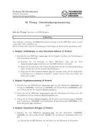 08. ¨Ubung - Datenbankprogrammierung - Datenbanken