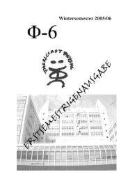 Wintersemester 2005/06 - Fachschaft Physik - HTU