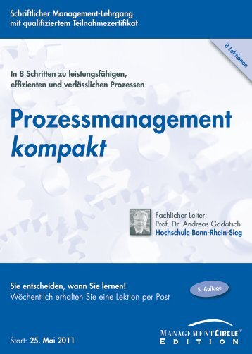 Schriftlicher Lehrgang: Prozessmanagement kompakt ...