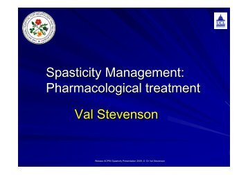 Pharmacological management - Stevenson - acpin