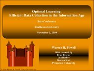 Optimal Learning: Efficient Data Collection in the Information Age