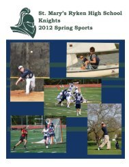 Spring 2012 - St. Mary's Ryken High School