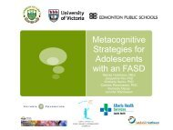 Metacognitive Strategies for Adolescents with an FASD