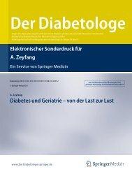 Von der Last zur Lust: Diabetes und Geriatrie - AGAPLESION ...