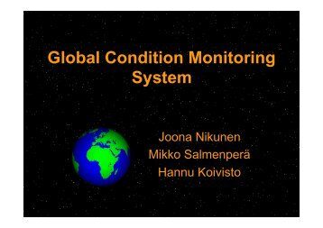 Global Condition Monitoring System - Ae.ase.tut.fi