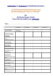 Mittelstufe - Katharina-Kasper-Schule