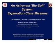 Dr. Dava J. Newman - NASA's Institute for Advanced Concepts