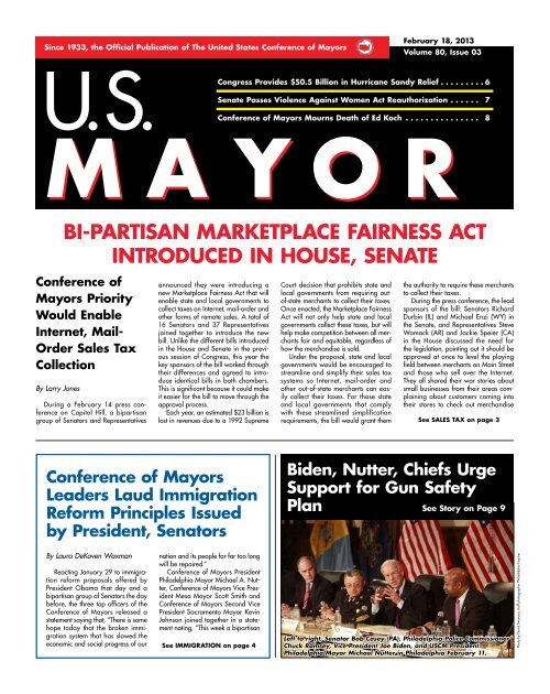 download a full PDF edition of this issue of US MAYOR.