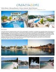 Villa Zelen, Okrug Beach, Ciovo Island, Split Riviera - CroatiaGems