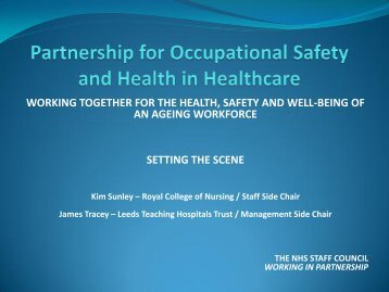 Partnership for Occupational Safety and Health in ... - NHS Employers
