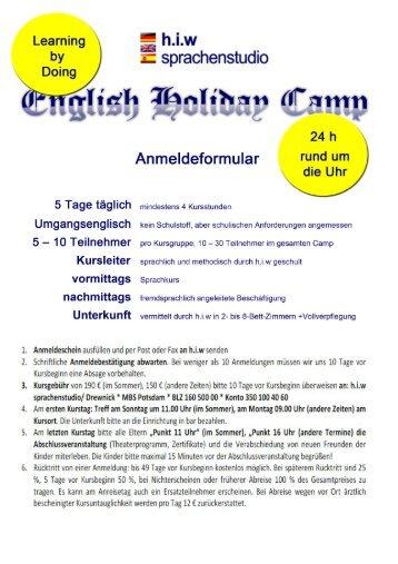 Unterkunft/ Vollpension - h.i.w sprachenstudio