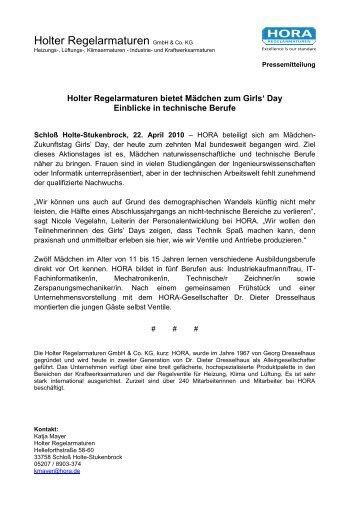 Holter Regelarmaturen GmbH & Co. KG - HORA