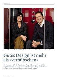 Gutes Design ist mehr als «verhübschen» - Design Management ...