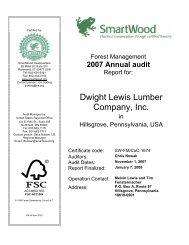 Dwight Lewis Lumber Company, Inc. - Rainforest Alliance