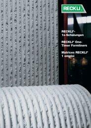Matrices 1 emploi - RECKLI GmbH: Home