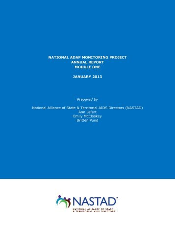 National ADAP Monitoring Project Annual Report Module ... - HIVdent!