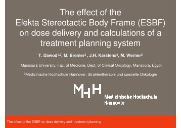The effect of the Elekta Stereotactic Body Frame (ESBF ... - Wcenter.de