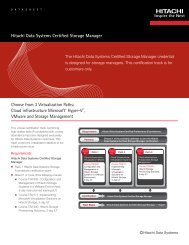 Hitachi Data Systems Certified Storage Manager