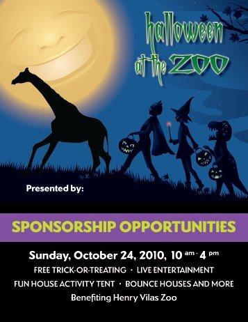 SPONSORSHIP OPPORTUNITIES - Henry Vilas Zoo