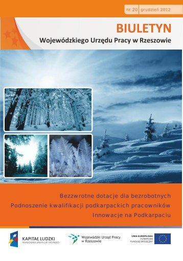 Biuletyn Wojewódzkiego Urzędu Pracy w Rzeszowie nr 20/2012