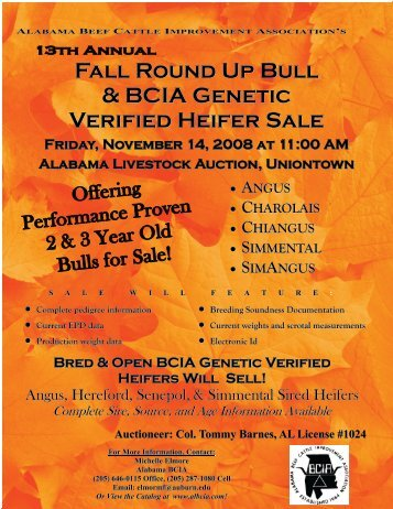 Fall Roundup - AL BCIA