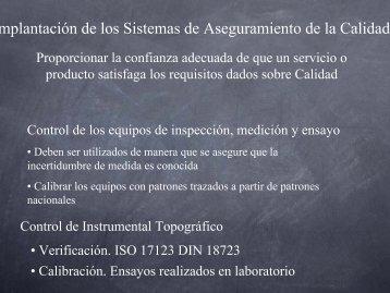 Implantación de los Sistemas de Aseguramiento de la Calidad