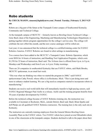 Robo students - Bowling Green Daily