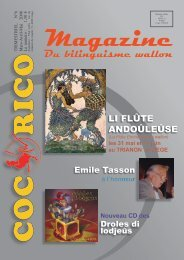 Magazine du bilinguisme wallon - Union Culturelle Wallonne