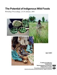 The Potential of Indigenous Wild Foods - usaid / ofda