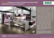 Mobalpa présente sa nouvelle collection de Cuisines 2009 ...