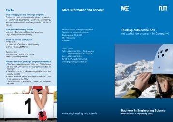 Flyer Engineering Science - MSE Engineering Science - Technische ...
