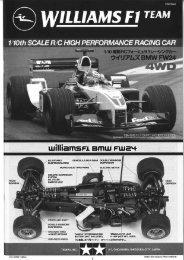 Tamiya F201 Manual - Wheels Academy