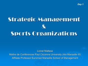 sport organizations - Lionel MALTESE
