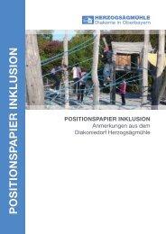 Positionspapier INKLUSION.indd - Herzogsägmühle