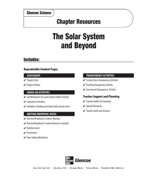 Chapter 15 Resource The Solar System And Beyond