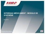 Notice Outil Synthese InterDiag Medicaments - Anap